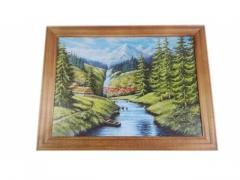 Obrazek drewniany Widok 20cm x 27cm