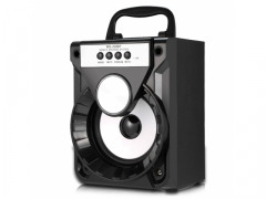 Głośnik bluetooth boombox mp3 SD FM USB LED  - 8W