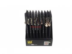 Długopis ścieralny czarny - z gumką