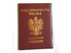 Etui okładka na paszport dokumenty 13x9cm -brązowe