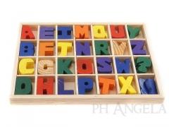 Klocki drewniane edukacyjne 56 sztuk