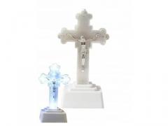 DUŻY Krzyż LED Znicz elektryczny 18cm 45dni wkład