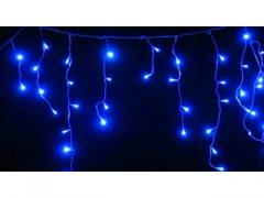Lampki sople Led z programatorem 300 niebieskie
