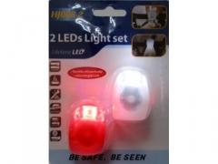 kpl.Oświetlenie rowerowe silikon 2 LED  x 2 Lampki