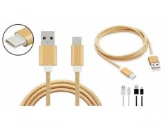 Kabel USB C 1,5m oplot nylon
