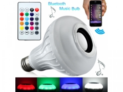 Żarówka LED RGB Bluetooth z głośnikiem +pilot