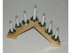 CHRISTMAS - Swiecznik drewniany 1228/24