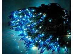 Lampki Choinkowe 100 gruby kabel niebieskie
