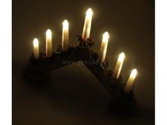 CHRISTMASS - Swiecznik drewniany 2823/10