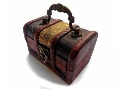 Kufer drewniany Szkatułka na drobiazgi biżuterie