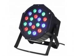 Reflektor kolorofon lampa disco slim par 18led rgb