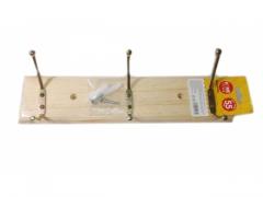 Wieszak drewniany 3 ramienny