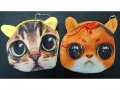 Portfelik pluszowy kotek - różne wzory