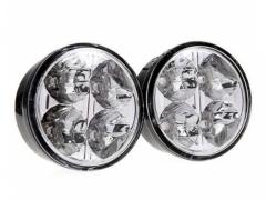 Światła do jazdy dziennej okrągłe LED SMD automat