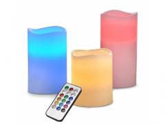 ŚWIECE LED RGB ŚWIECZKI NA PILOTA 3 SZT