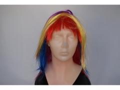 Peruka z prostymi kolorowymi włosami 5003