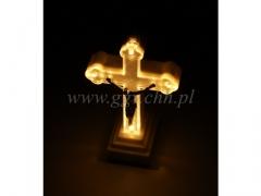 SUPER CENA - Krzyż podświetlany LED maly 5881ww/24