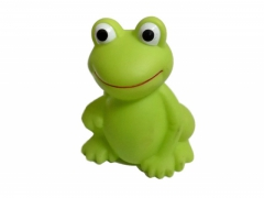 ŻABA gumowa piszcząca 9cm zabawka do wody żabka