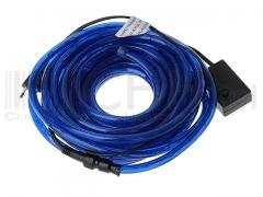 Wąż świetlny 24m niebieski ze sterownikiem