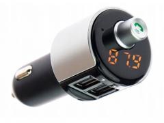 Transmiter bluetooth 2xUSB ładowanie głośnomówiący
