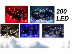 L23 LAMPKI CHOINKOWE 200 LED 5 KOL. W/Z ŁĄCZENIE