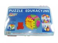 Klocki puzzle edukacyjne +18 miesięcy