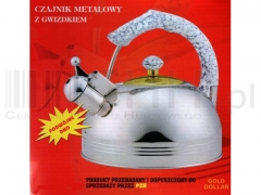 Czajnik Metalowy Z Gwizdkiem 3 l
