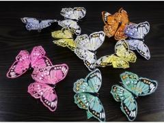 Motylki ozdobne z klipsem 9x6,5cm miks kolorów