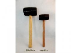 Młotek gumowy 224 gram z drewnianą rączką