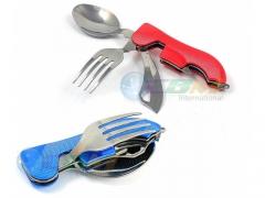 Niezbędnik turystyczny scyzoryk nóż łyżka widelec