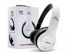 Słuchawki bezprzewodowe bluetooth p47 Mikrofon mp3