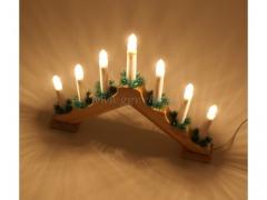 CHRISTMAS - Swiecznik drewniany 8087/12
