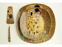 Zestaw 8 el. talerze do ciasta Klimt Pocałunek ELB