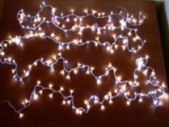 LAMPKI CHOINKOWE 300 LED BIAŁE 15M