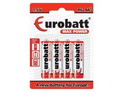 Baterie R6 Max Power - BP4 EUROBATT 4szt