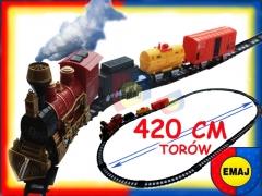 KOLEJKA ELEKTRYCZNA lokomotywa tory 420 cm EMAJ