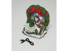 CHRISTMAS - Domek podswietlany 8299/12 + FILM!