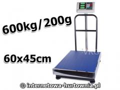 WAGA MAGAZYNOWA PLATFORMA 60X45 OPARCIE 600kg/200g