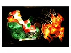 motyw świąteczny - mikołaj+sanie 9082ms
