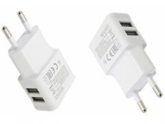 ŁADOWARKA SIECIOWA ADAPTER ZASILACZ 2 x USB 2 A