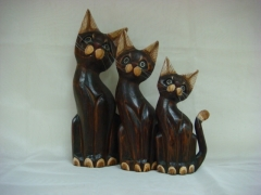 Koty drewniane - komplet