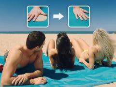 Mata plażowa bez piasku siatka 200x200cm sand free