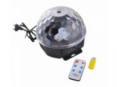 Kula disco lampa dyskotekowa bluetooth + akcesoria