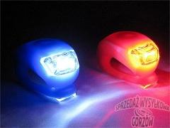 DIODOWA LAMPKA ROWEROWA LED - KOMPLET 2 SZT