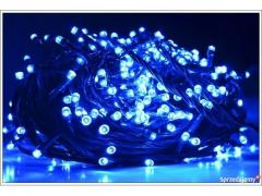 Lampki Choinkowe LED 100 programator niebieskie