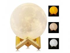 LAMPKA NOCNA ŚWIECĄCY KSIĘŻYC 3D MOON LIGHT 3TRYBY