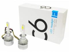 Zestaw LED COB H1 C6 72W 7600 lm żarówki DZIEŃ/NOC