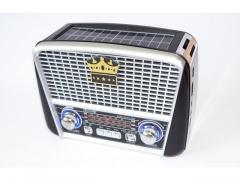 Radio solarne głośnik bluetooth FM SD MP3 latarka