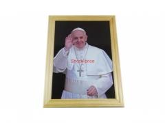 Obraz drewniany papież Franciszek 20cm x 27cm
