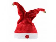 Czapka mikołaja świąteczna gra śpiewa tańczy